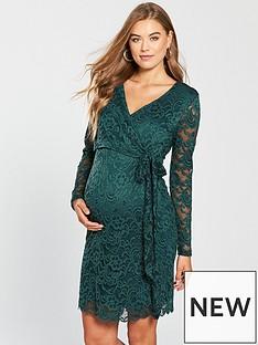 mama-licious-mamalicious-maternity-mivana-woven-lace-wrap-dress