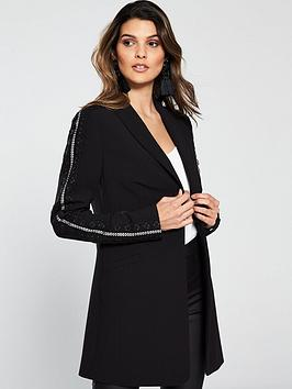 v-by-very-lace-trim-longline-jacket-black