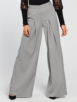 v-by-very-mini-check-wide-leg-trouser-silver