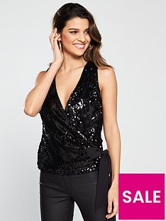 v-by-very-sequin-wrap-top-black
