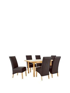 mccauley-120-150-cm-solid-wood-extending-table-6-chairs-brownoak