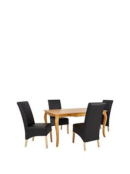 deaves-150-cm-solid-wood-dining-table-4-chairs
