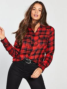 v-by-very-studded-check-shirt-red