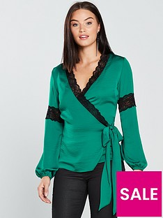 v-by-very-lace-trim-wrap-top-greennbsp