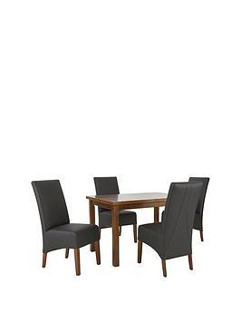 mccauley-120-150-cm-solid-wood-extending-table-4-chairs-blackwalnut