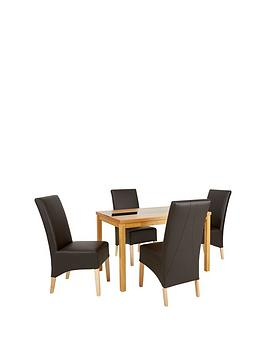 mccauley-120-cm-solid-wood-and-glass-dining-table-4-chairs-brownoak