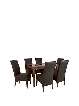 mccauley-120-cm-solid-wood-and-glass-dining-table-6-chairs-brownwalnut