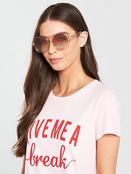 Chloe Navigator Sunglasses - Peach