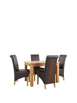 bedford-120-cm-solid-wood-dining-table-4-chairs