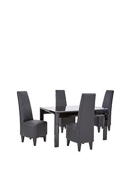 taunton-138-190-cm-extending-gloss-dining-table-4-chairs