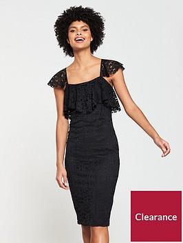 v-by-very-square-neck-stretch-lace-pencil-dress-black