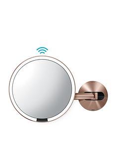 simplehuman-20-cm-wall-mounted-sensor-mirror-ndash-rose-gold