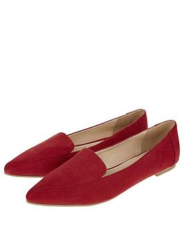 Accessorize Cameron Pointed Slipper Shoe - Red