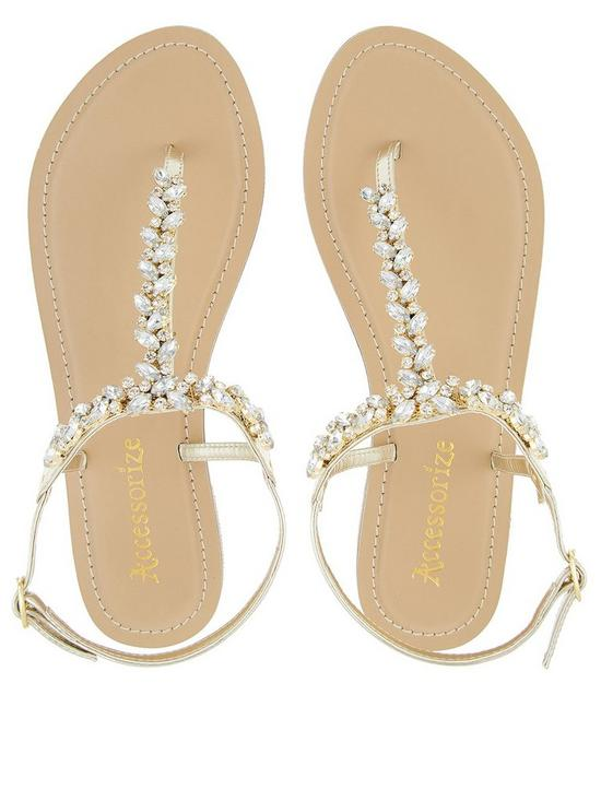 ab43e9c96e05dd ... Accessorize Belle Crystal Sandal - Gold. View larger