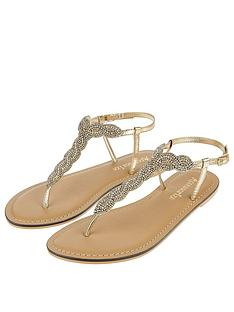 c95be47d82530f Accessorize Sabrina Sparkle Twist Sandal - Gold
