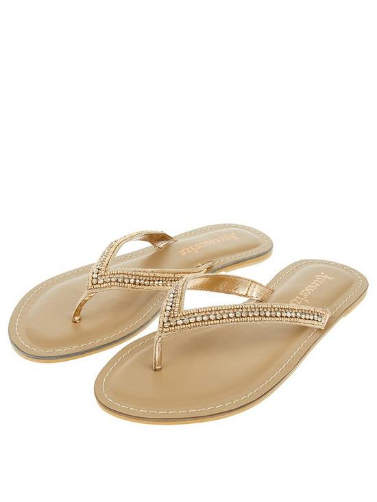 0d2398f6be15a8 Accessorize Kim Sparkle Thong Flip Flop - Rose Gold