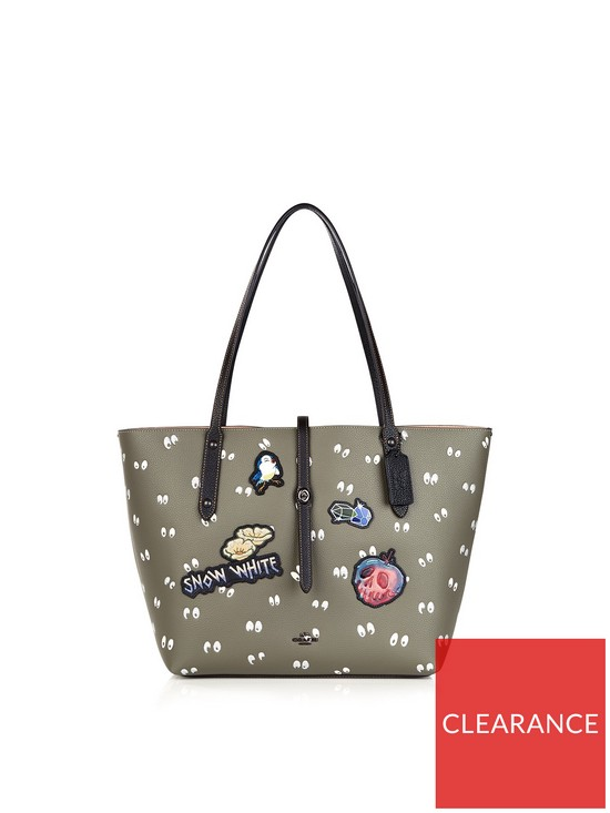 70272daa349 COACH Disney X Coach 1941 Multi Patches Spooky Eyes Print Tote Bag - Dark  Green
