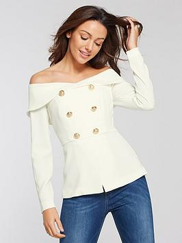 michelle-keegan-bardot-tuxdeo-blouse-ivory