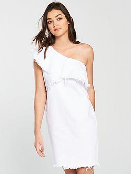 river-island-one-shoulder-denim-dress