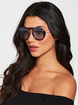 Emporio Armani Emporio Armani Light Blue Lens Round Sunglasses