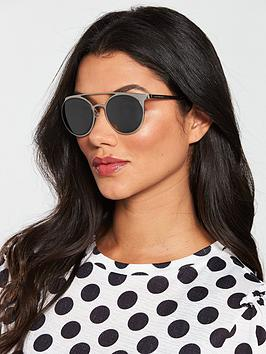 Emporio Armani Brow Bar Sunglasses - Silver