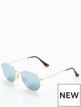 ray-ban-hexagonal-sunglasses--nbspgold