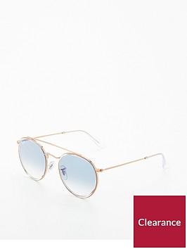 ray-ban-rayban-blue-gradiant-lens-round-browbar-sunglasses