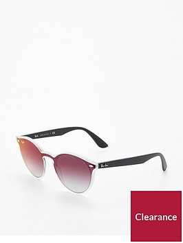 ray-ban-rayban-white-trim-round-sunglasses