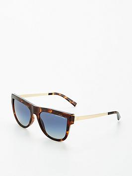 Michael Kors Michael Kors St Kitts Tort Blue Lens Flat Top Sunglasses