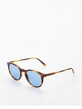 Ralph Lauren Blue Lens Oval Sunglasses, Blue, Women thumbnail