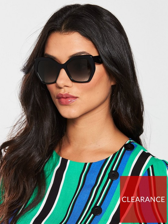 4f7a519b4 Prada Black Geometric Sunglasses | very.co.uk