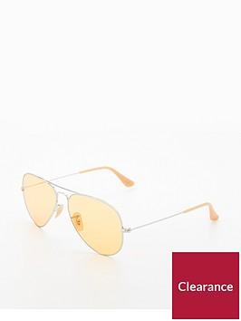 ray-ban-rayban-yellow-large-aviator-sunglasses