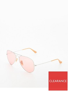 fc2aedecbe66c Ray-Ban Rayban Pink Large Aviator Sunglasses