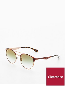 ray-ban-rayban-green-lens-brow-bar-sunglasses