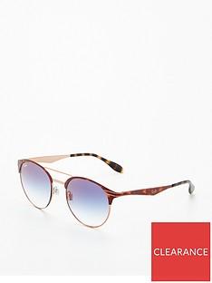455cbbb4e0 Ray-Ban Rayban Blue Lens Brow Bar Sunglasses