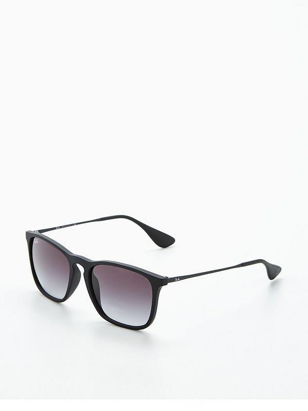 Rayban Chris Black Rectangular Sunglasses