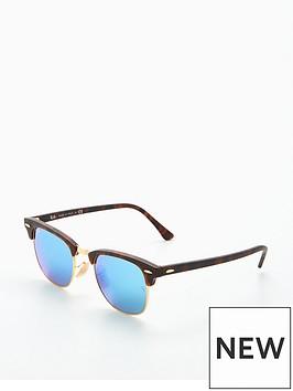 ray-ban-rayban-clubmaster-blue-lens-sunglasses