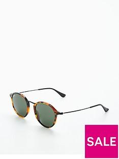 ray-ban-rayban-round-tort-rim-sunglasses