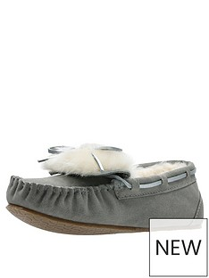 clarks-warm-glamour-slipper-grey