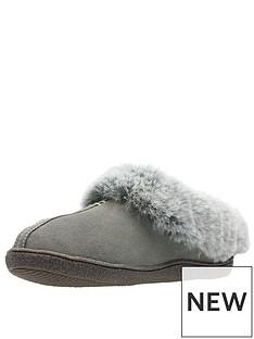 clarks-home-classic-slipper-grey-suedenbsp