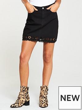 v-by-very-laser-cut-hem-skirt-blacknbsp