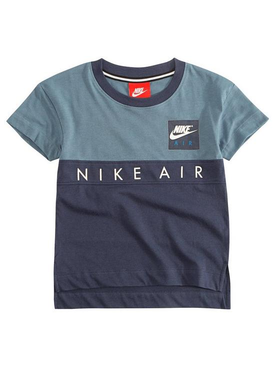 a3bd20c9be Nike Air Younger Boy Colourblock Tee - Blue