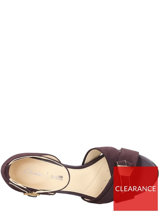 4af74d3cc4 ... Clarks Amali Ice Heeled Sandal - Aubergine. View larger