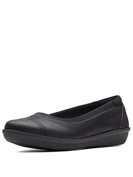 clarks-cloudsteppers-ayla-low-ballerina-shoes-black