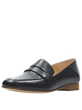 clarks-pure-iris-loafer-black