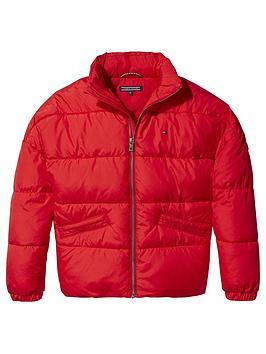 tommy-hilfiger-girls-concealed-hood-padded-jacket-red