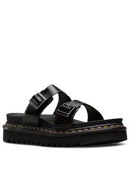 Dr Martens Myles Brando Flat Sandal - Black