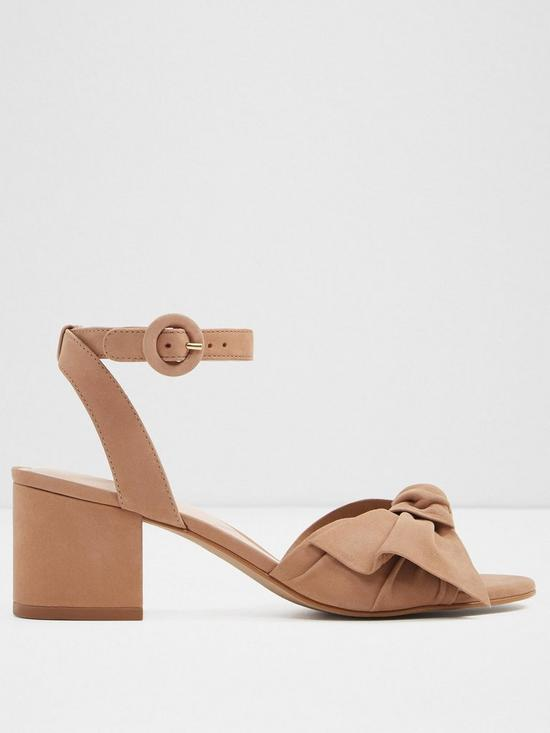 cd3ad366c7f5 Aldo Sicinski Bow Heeled Sandal - Natural