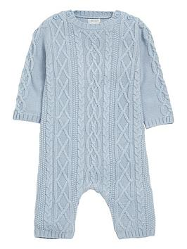 mamas-papas-baby-boys-cable-knit-romper
