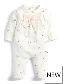 mamas-papas-baby-girls-floral-bow-all-in-one